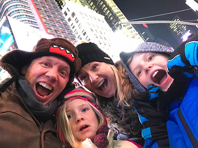 Family in Time Square